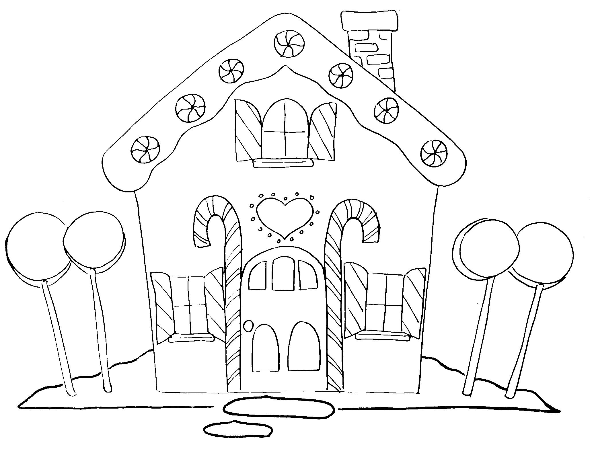 Gingerbread House Coloring New Calendar Template Site Coloring Page Gingerbread House