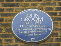 Photo of John Groom blue plaque