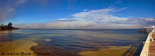 ocean sky clouds florida fishingpier pineisland bokeelia