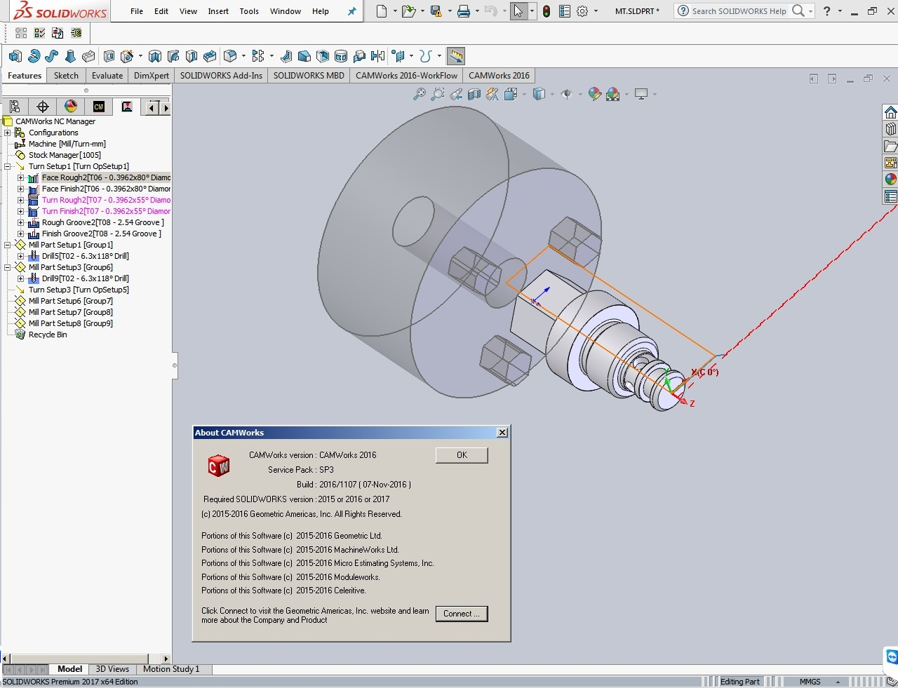 Machining with CAMWorks 2016 SP3 Multilang for SolidWorks 2015-2017 Win64