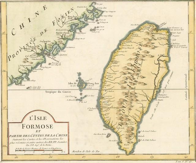 台灣古地圖 1748 年