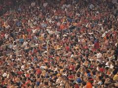 stampede(0.0), arena(0.0), people(1.0), crowd(1.0), audience(1.0),