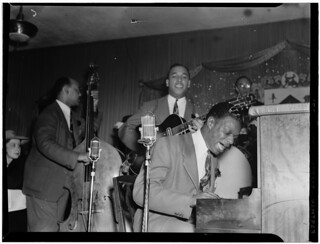 [Portrait of Wesley Prince, Oscar Moore, and Nat King Cole, Zanzibar, New York, N.Y., ca. July 1946] (LOC)