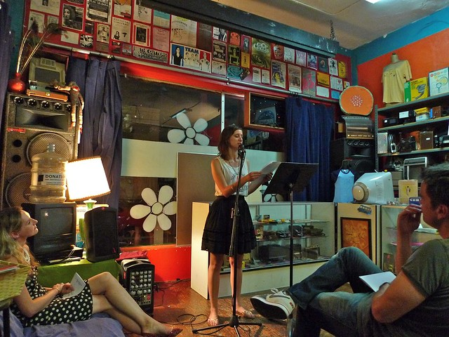 Margaret Wappler reading at Hot Dish