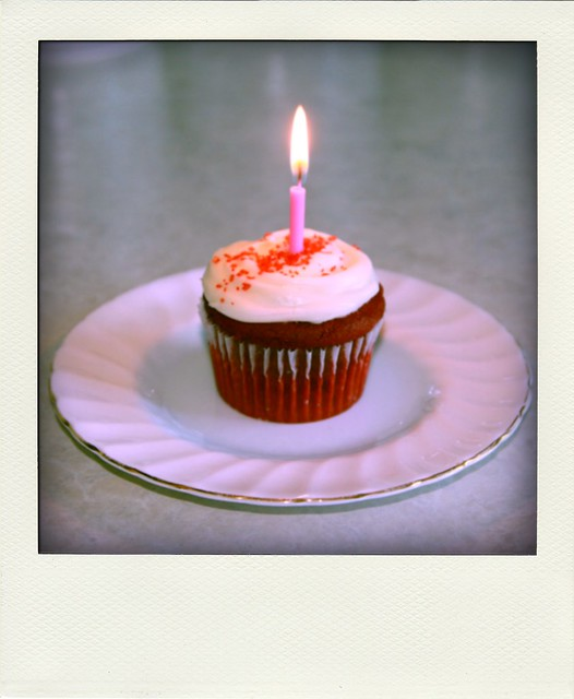 Red velvet birthday cupcake | Explore courtneylewis' photos ...