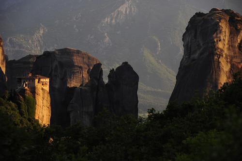 travel sunset wallpaper golden rocks europe cliffs unesco greece monastery worldheritage shah meteora saumil roussanou saumilshah