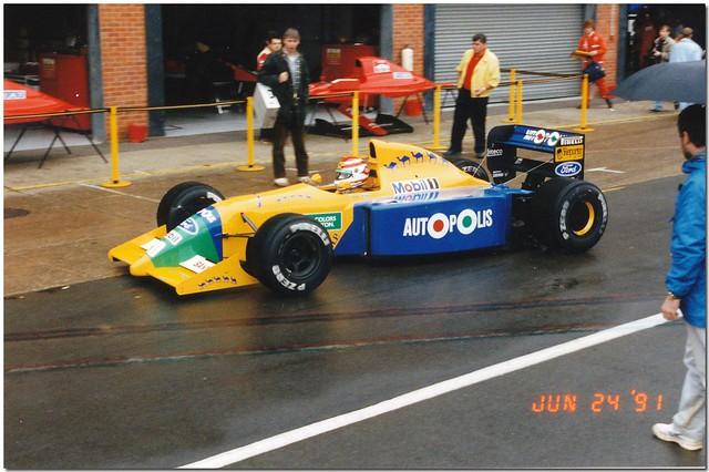 Nelson Piquet Benetton Ford B190B F1. 1991 British GP Test Silverstone