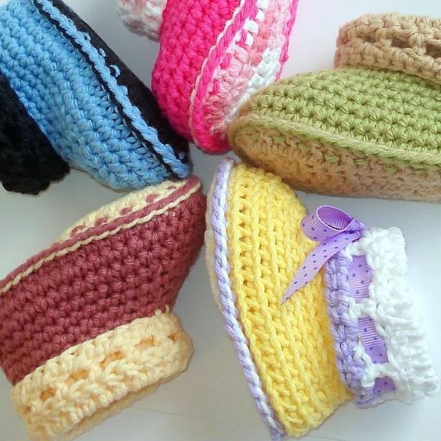 Crochet Cuffed Baby Booties Pattern : Baby Cuffed Booties Crochet Pattern Explore Genevive_Too ...