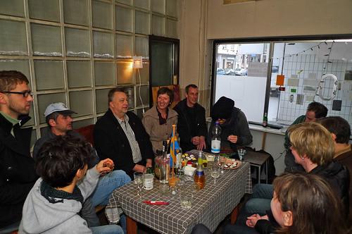 Gesellige Runde im Kunstraum trudi.sozial