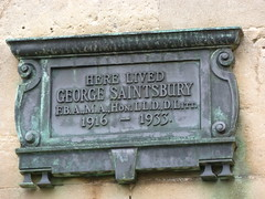 Photo of George Saintsbury bronze plaque
