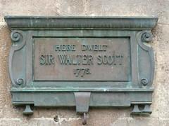 Photo of Walter Scott bronze plaque