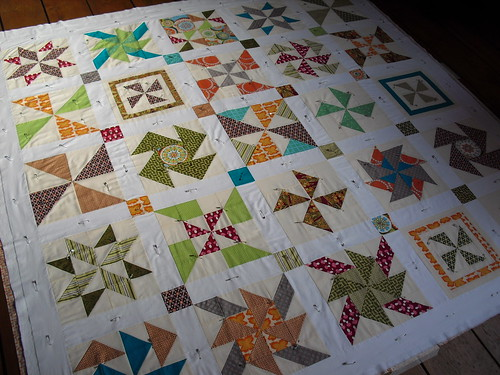 Basted quilt