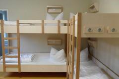 shelf(0.0), changing table(0.0), infant bed(0.0), bed frame(1.0), furniture(1.0), room(1.0), bed(1.0), bunk bed(1.0),
