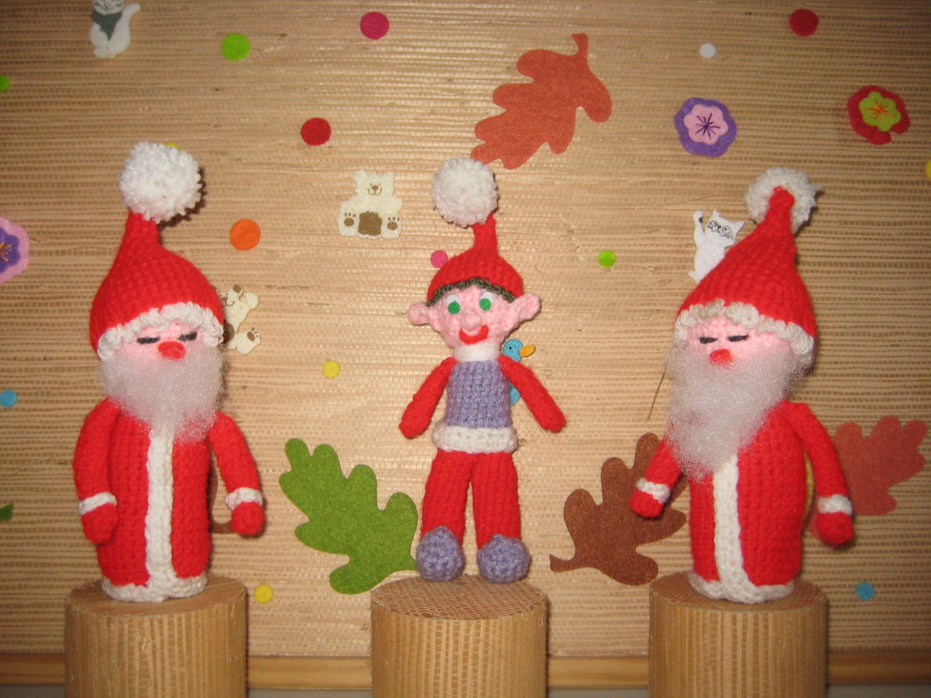 2 Pères Noël et 1 lutin
