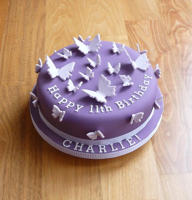 Purple Butterfly Birthday Cake Flickr Photo Sharing
