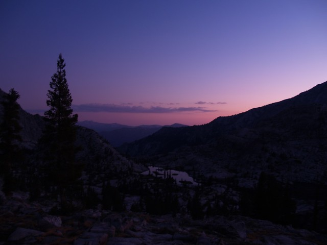 Sunset in Granite Basin.
