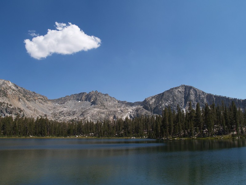 The view from our campsite at Upper State Lake.