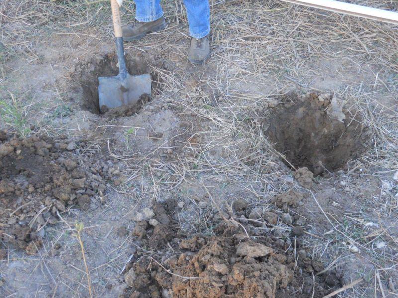 Excavación de hoyos