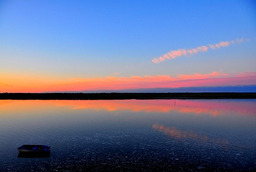 sunset sea sky nature reflections canal nikon cost d90 saintvalerysursomme natureloving northoffrnace