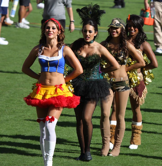 San Diego Chargers Cheerleaders Pictures: More Charger Girls In Halloween Costumes