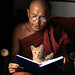 Monk Chanting with Kittens by Rob Kroenert