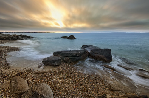 ocean sea water clouds sunrise coast rocks day cloudy tide atlantic massachusettes buzzardsbay