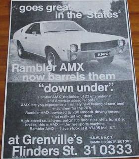 1969 Rambler Javelin AMX Ad