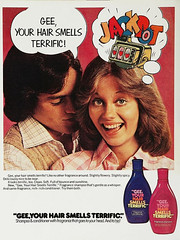 """Magazine Advert for """"Gee Your Hair Smells Terrific"""" Shampoo, 1970s"""