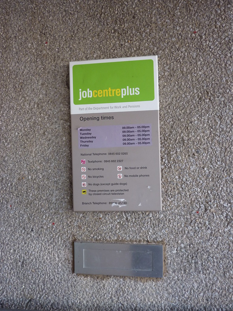 JobCentre Plus - sign and postbox
