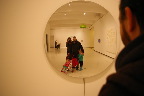 Family photo with Olafur Eliasson piece, Walker 2010