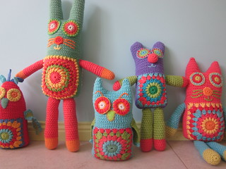 my crochet softies all together!