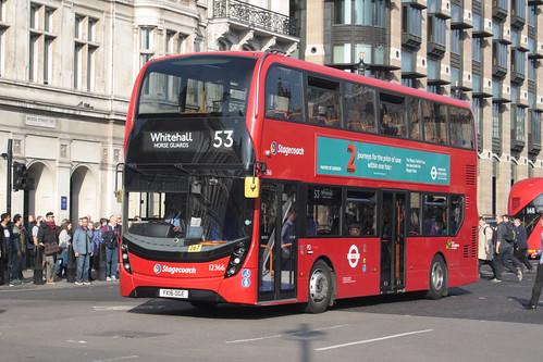 Stagecoach London 12366 YX16OGE