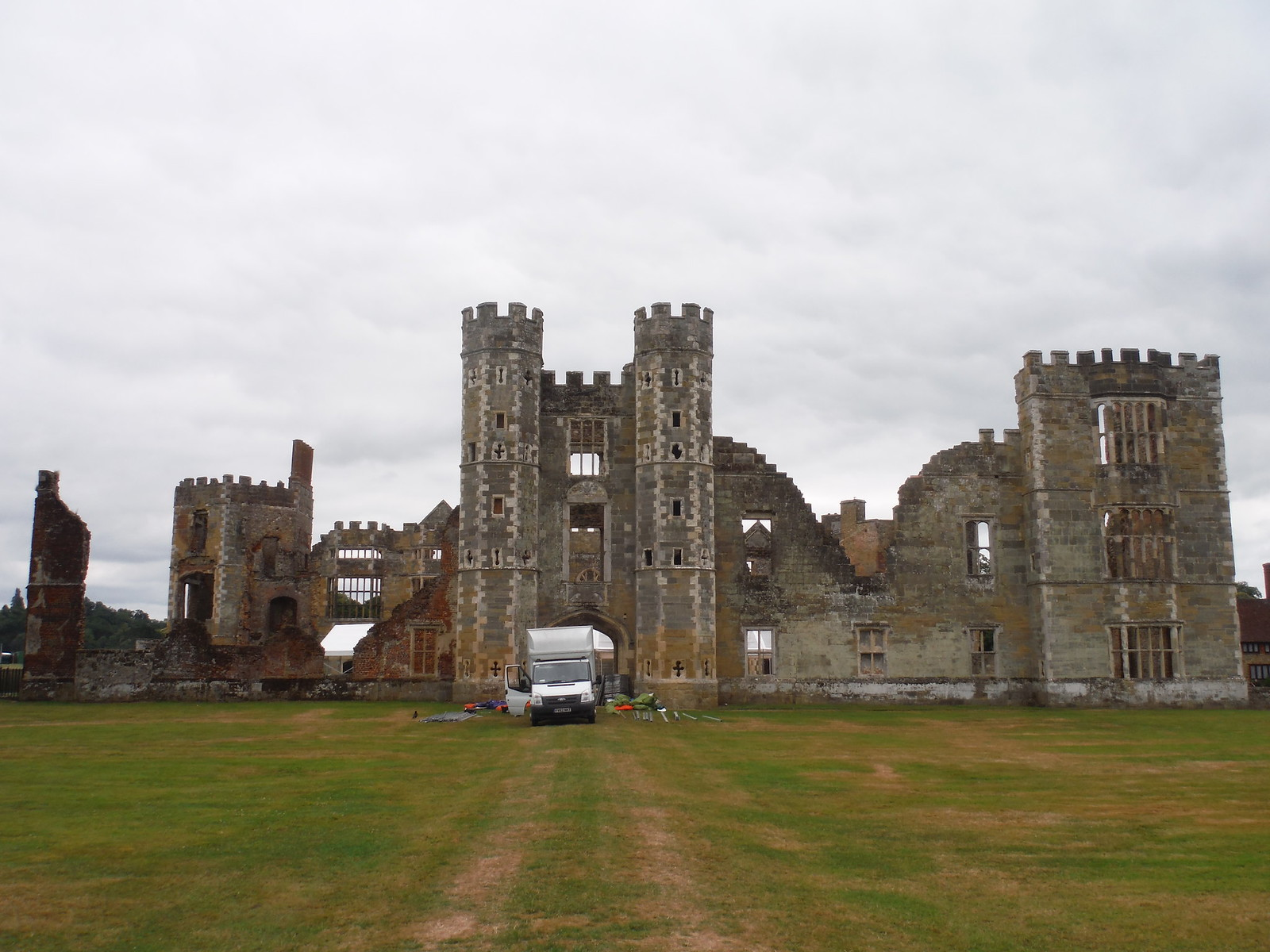 Cowdray House Ruins SWC Walk 218 Haslemere to Midhurst (The Midhurst Way)