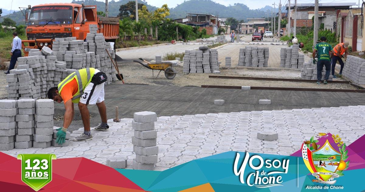 Adoquinado en la ciudadela San Rafael tiene el 95% de construcción