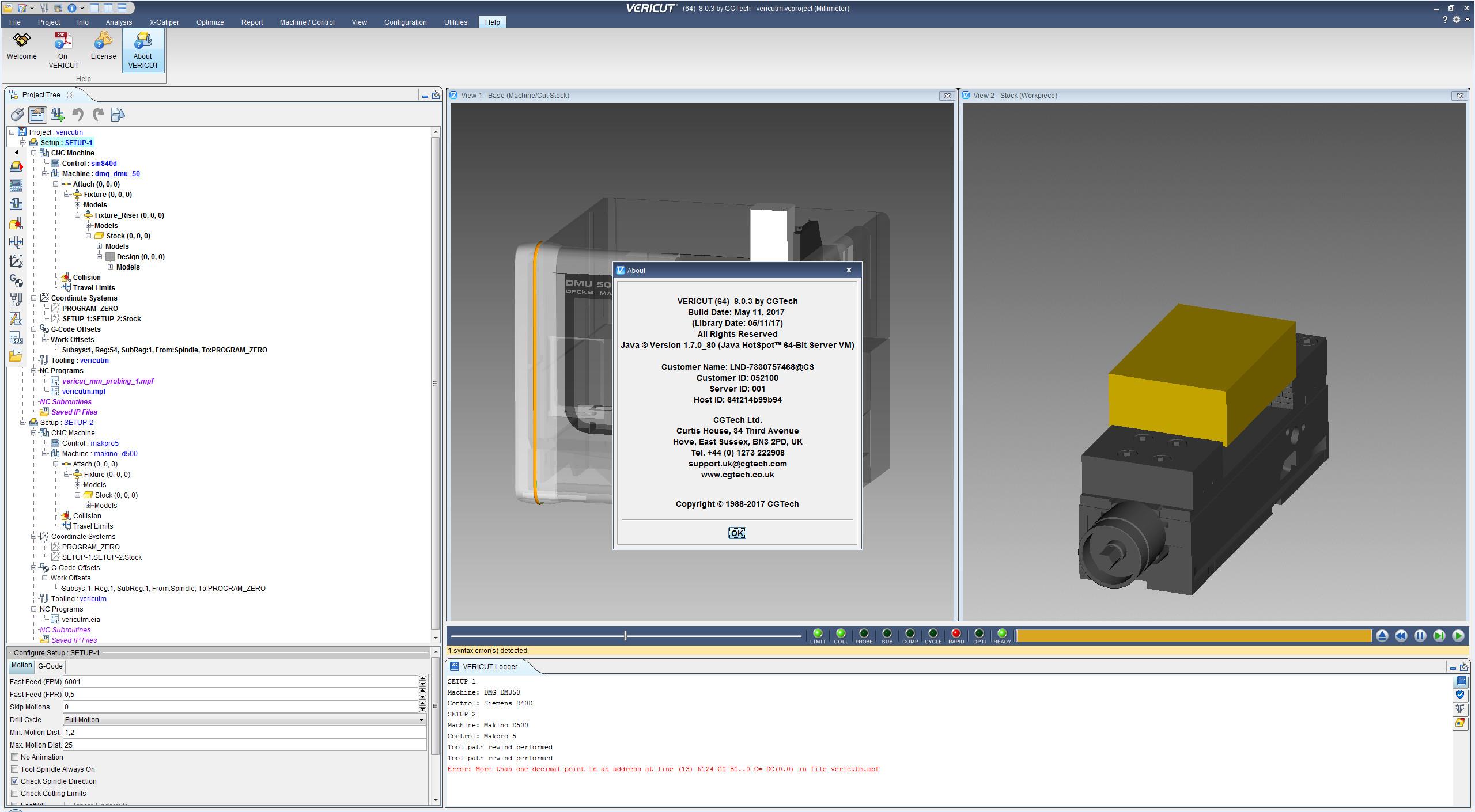 Information of CGTech VERICUT 8.0.3 full version