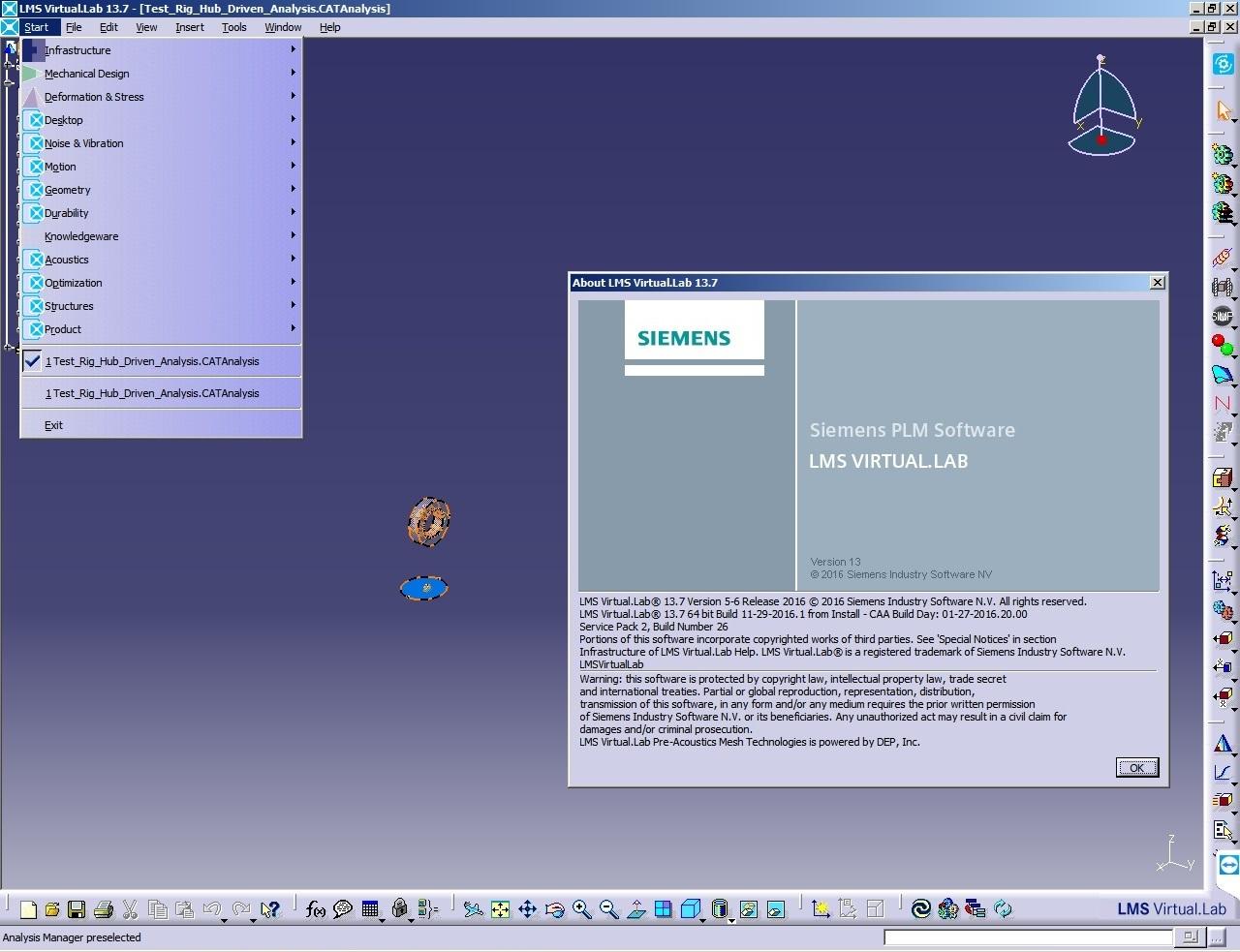 Working with Siemens LMS Virtual.Lab Rev 13.7 64bit full