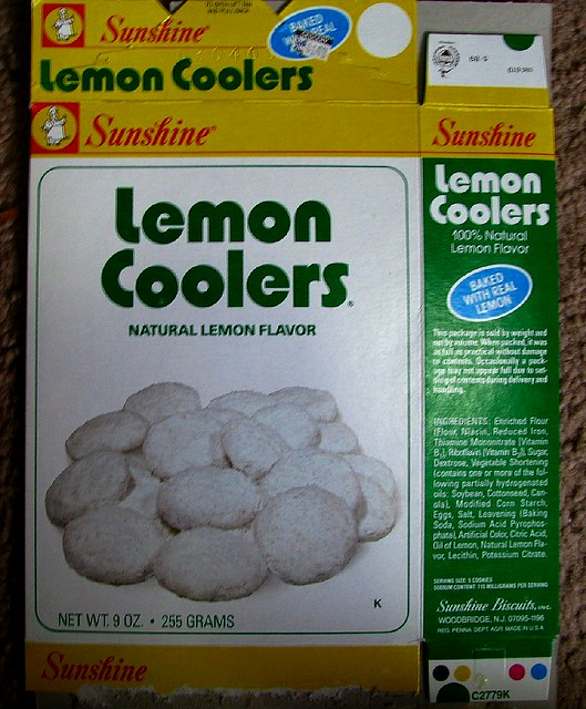 mid 1980s Sunshine Lemon Coolers cookies box | Flickr - Photo Sharing!