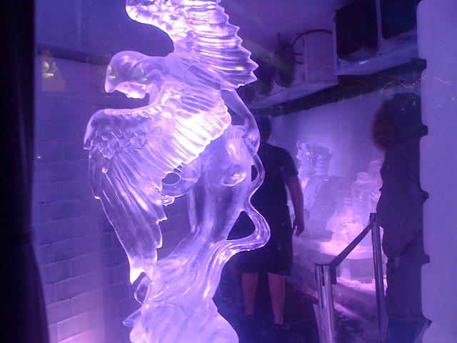 Winged Angel Ice Sculp...