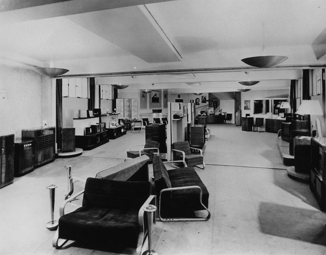 hmv 363 Oxford Street, London - Radio department 1950s