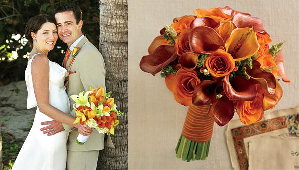Let the color decorate your autumn wedding lacking of ideas See