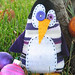 sock monster - penguin (small)