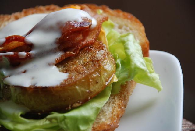 Fried Green Tomato Sandwich by kthread, on Flickr (http://www.flickr.com/photos/kthread/4984458720/)
