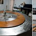 Homemade Dining Table with Double Lazy Susan by silverlily