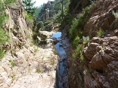 Dans le boyau rocheux : vue vers l'aval