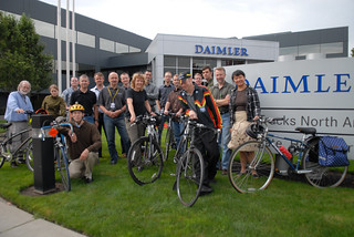 Bike commuters at Daimler Trucks North America on Swan Island-7