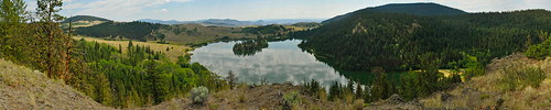 sky panorama lake reflection nature forest landscape britishcolumbia kamloops viewpoint thompson grasslands lacdubois douglasfir ponderosapine