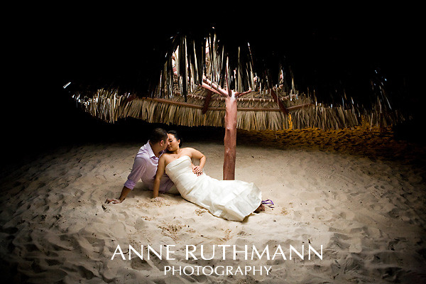 Punta Cana Destination Wedding Night Portraits