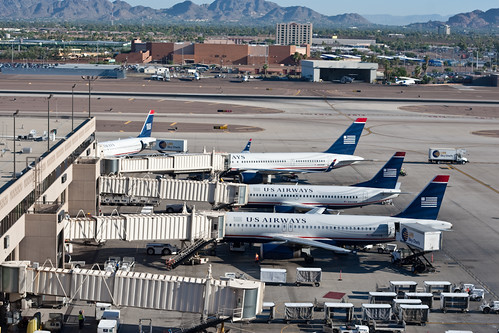 Planes at Phoenix Airport