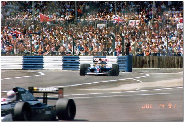Nigel Mansell Williams Renault FW14 F1.1991 British GP Silverstone.
