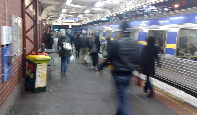 Footscray station, 10:35pm